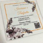 Convite de casamento em acrílico