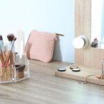 Organizador de maquiagem e cosméticos para bancada